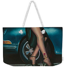 Rose Tattoo Weekender Tote Bag