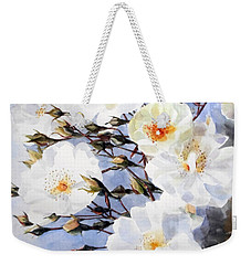Rose Tchaikowsky A Stem Of White Roses And Buds Weekender Tote Bag by Greta Corens