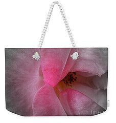 Weekender Tote Bag featuring the photograph Rose Voluptuous by Jean OKeeffe Macro Abundance Art