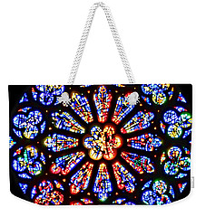 Rose Window Of Grace Cathedral By Diana Sainz Weekender Tote Bag