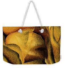 Weekender Tote Bag featuring the photograph Rose Yellow Fresco by Jean OKeeffe Macro Abundance Art