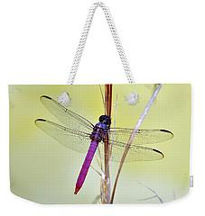 Roseate Skimmer Dragonfly Weekender Tote Bag