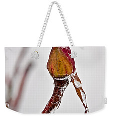 Rosebud Frozen In Ice Art Prints Weekender Tote Bag