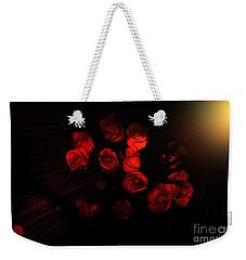 Roses And Black Weekender Tote Bag
