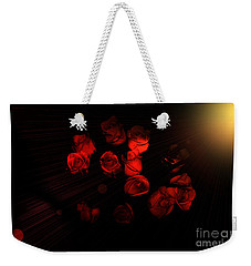 Roses And Black Weekender Tote Bag