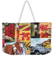 Roses And Trucks Weekender Tote Bag