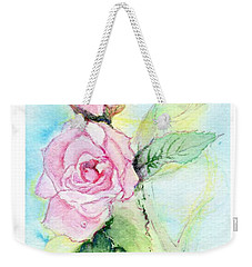 Weekender Tote Bag featuring the painting Roses by C Sitton