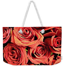 Roses For Your Wall  Weekender Tote Bag by Joseph Baril