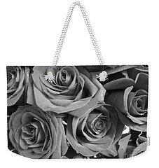 Weekender Tote Bag featuring the photograph Roses On Your Wall Black And White  by Joseph Baril