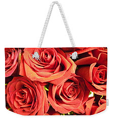 Roses On Your Wall Weekender Tote Bag