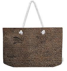 Rosetta Stone Texture Weekender Tote Bag
