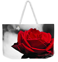 Rosey Red Weekender Tote Bag by Kaye Menner