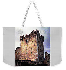 Weekender Tote Bag featuring the photograph Ross Castle Kilarney Ireland by Angela Davies