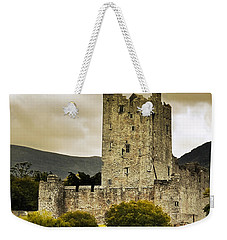 Weekender Tote Bag featuring the photograph Ross Castle Killarney by Jane McIlroy