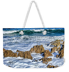 Weekender Tote Bag featuring the photograph Ross Witham Beach Stuart Florida by Olga Hamilton