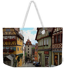 Rothenburg Ob Der Tauber Weekender Tote Bag by Corinne Rhode