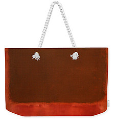 Rothko's Mulberry And Brown Weekender Tote Bag