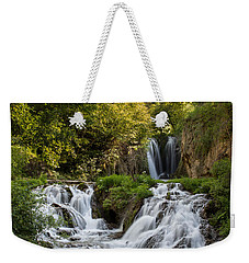 Weekender Tote Bag featuring the photograph Roughlock Falls South Dakota by Patti Deters
