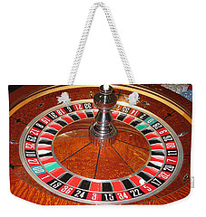 Roulette Wheel And Chips Weekender Tote Bag