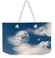 Round Clouds Weekender Tote Bag by Leone Lund