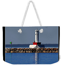Round Island Passage Lighthouse Weekender Tote Bag