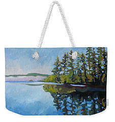 Round Lake Mirror Weekender Tote Bag