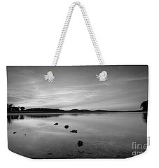 Round Valley At Dawn Bw Weekender Tote Bag