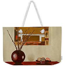 Round Vase Weekender Tote Bag by Laura Forde