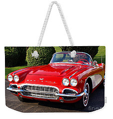 Route 66 - 1961 Corvette Weekender Tote Bag