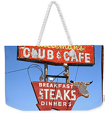 Route 66 - Cattleman's Club And Cafe Weekender Tote Bag
