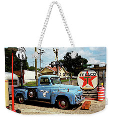 Route 66 - Gas Station With Watercolor Effect Weekender Tote Bag