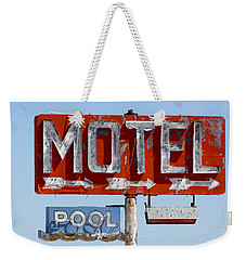 Route 66 Motel Sign Weekender Tote Bag
