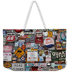 Route 66 Signs Weekender Tote Bag