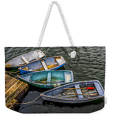 Row Boats At Dock Weekender Tote Bag