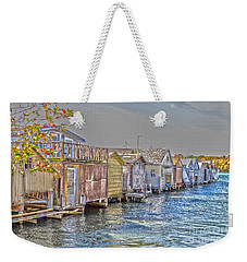 Row Of Boathouses Weekender Tote Bag