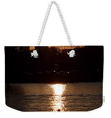 Rower Sunrise Weekender Tote Bag