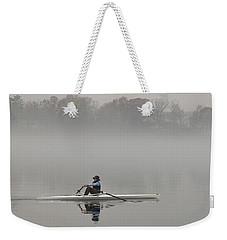 Rowing Into Morning Fog Weekender Tote Bag by Gary Slawsky