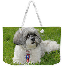Weekender Tote Bag featuring the photograph Roxey Glamour by Arthur Fix