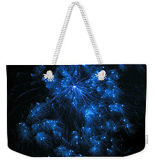 Royal Blue Fireworks Weekender Tote Bag