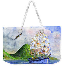 Royal Clipper Leaving St. Lucia Weekender Tote Bag