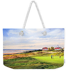 Royal Liverpool Golf Course Hoylake Weekender Tote Bag by Bill Holkham