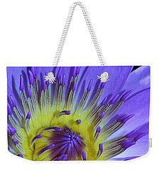 Royal Purple Water Lily #11 Weekender Tote Bag