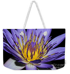Royal Purple Water Lily #5 Weekender Tote Bag by Judy Whitton