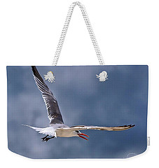 Weekender Tote Bag featuring the photograph Royal Tern 1 by Ludwig Keck