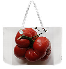 Weekender Tote Bag featuring the photograph Roys Tomato by PJ Boylan