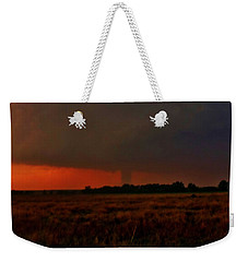 Rozel Tornado On The Horizon Weekender Tote Bag by Ed Sweeney