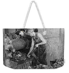 Weekender Tote Bag featuring the painting Rubber Production, C1928 by Granger