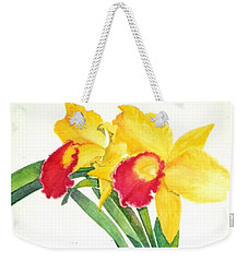 Ruby Kissed Orchids Weekender Tote Bag