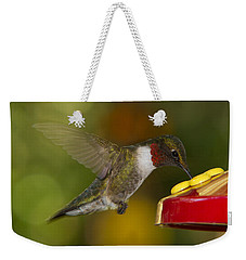 Ruby-throat Hummer Sipping Weekender Tote Bag