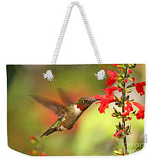 Ruby Throat Hummingbird Photo Weekender Tote Bag by Luana K Perez